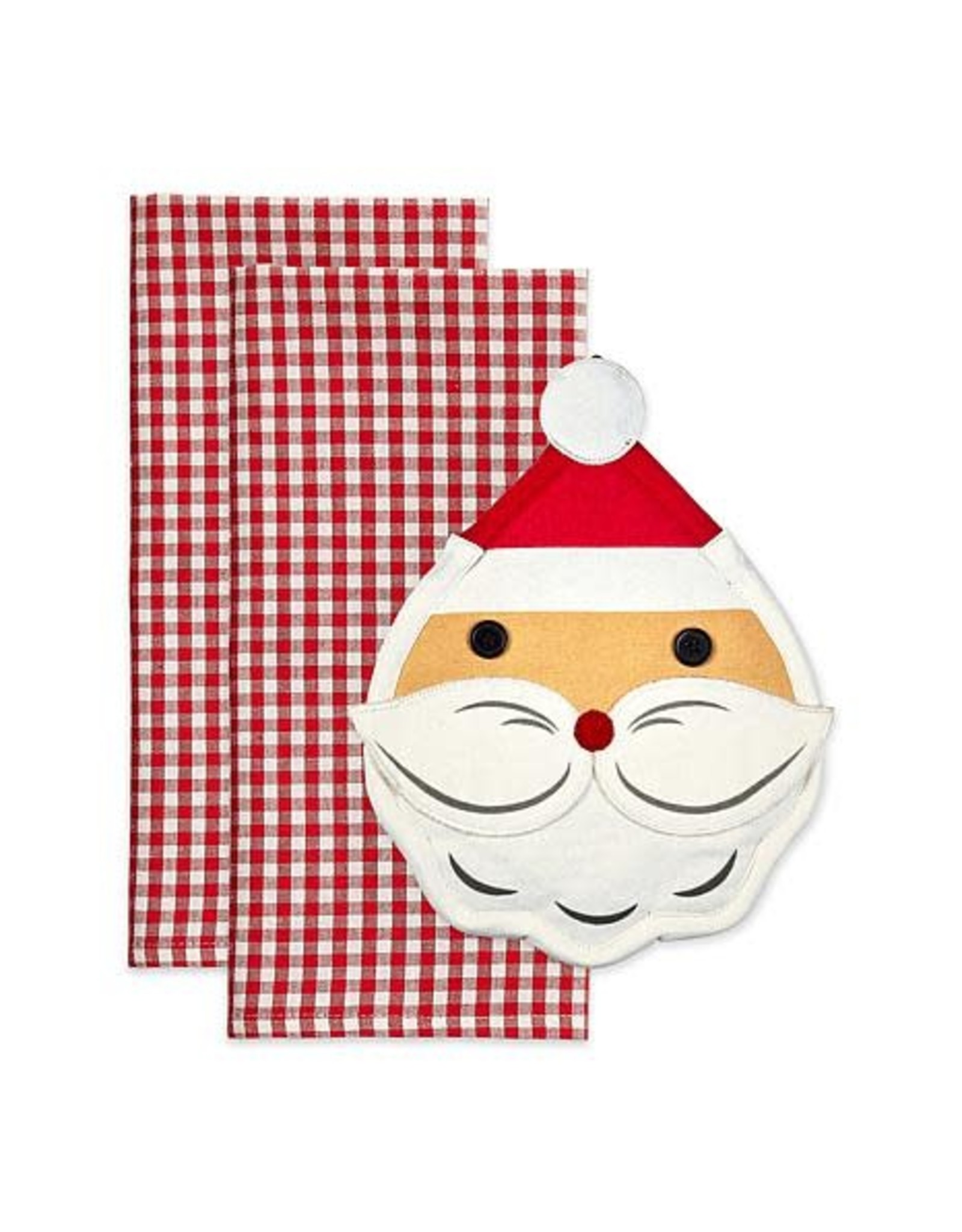 Design Imports DI Jolly Santa Potholder Gift Set
