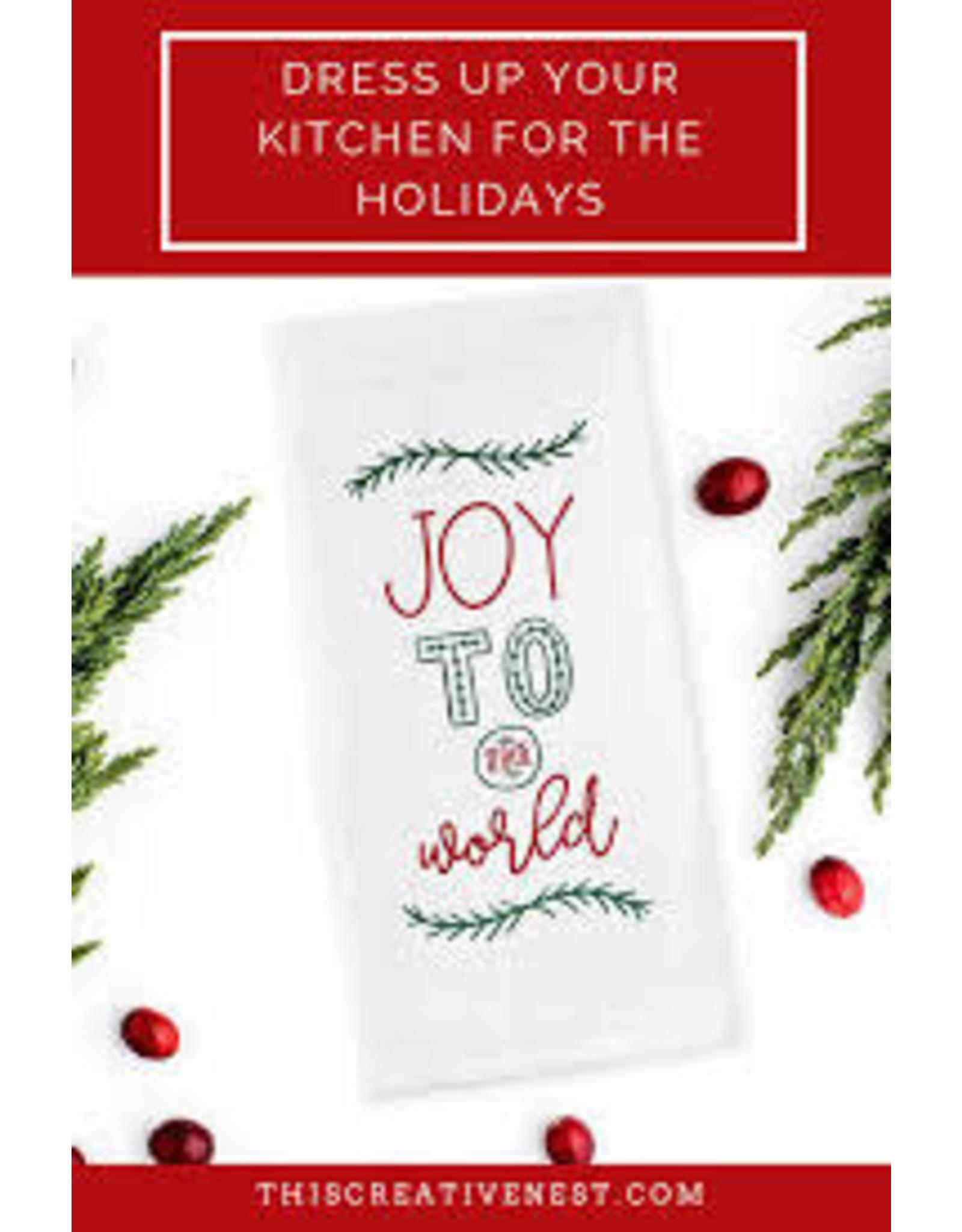Design Imports DI Joy To The World Dishtowel