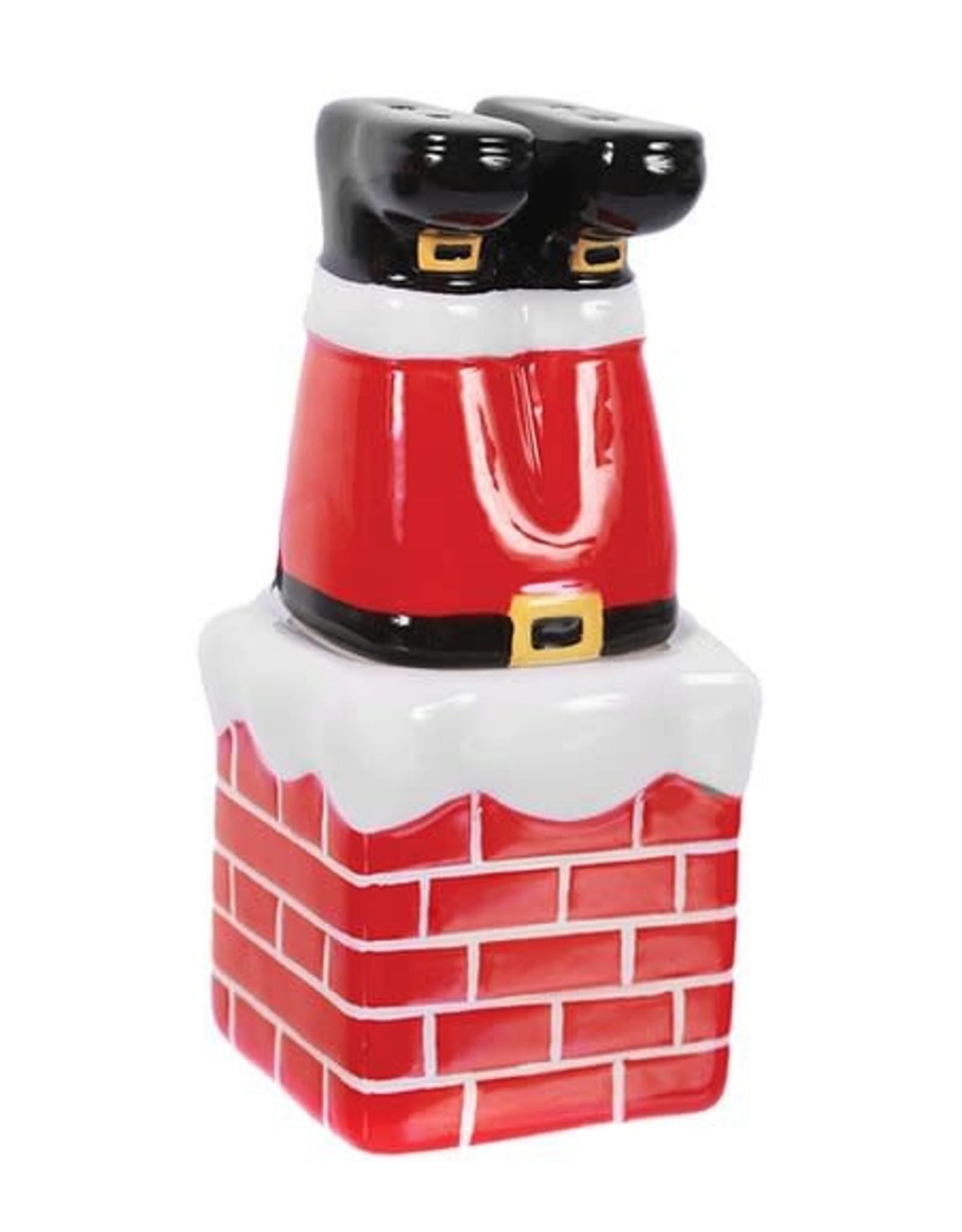Design Imports DI Santa Chimney Salt & Pepper Set
