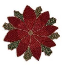Design Imports DI Poinsettia Beaded Centerpiece