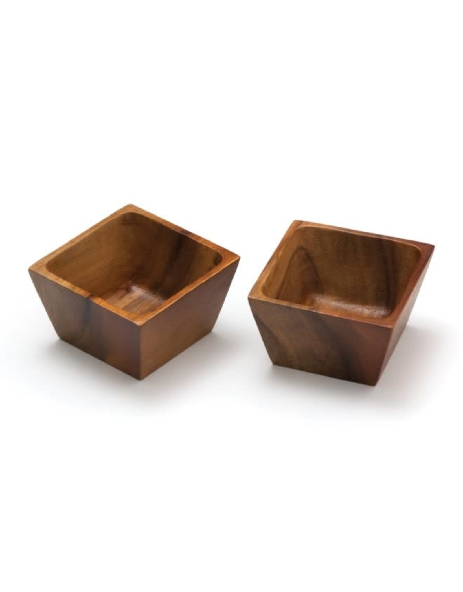 Lipper LIPPER-Acacia Square Pinch Bowls, Set of 2