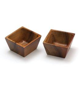 Lipper LIPPER-Acacia Square Pinch Bowls, Set of 2