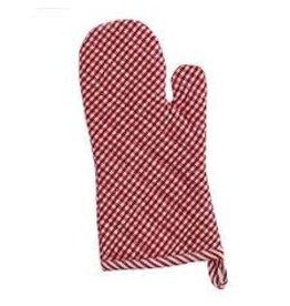 Design Imports DI Tango Red Chef Check Oven Mitt