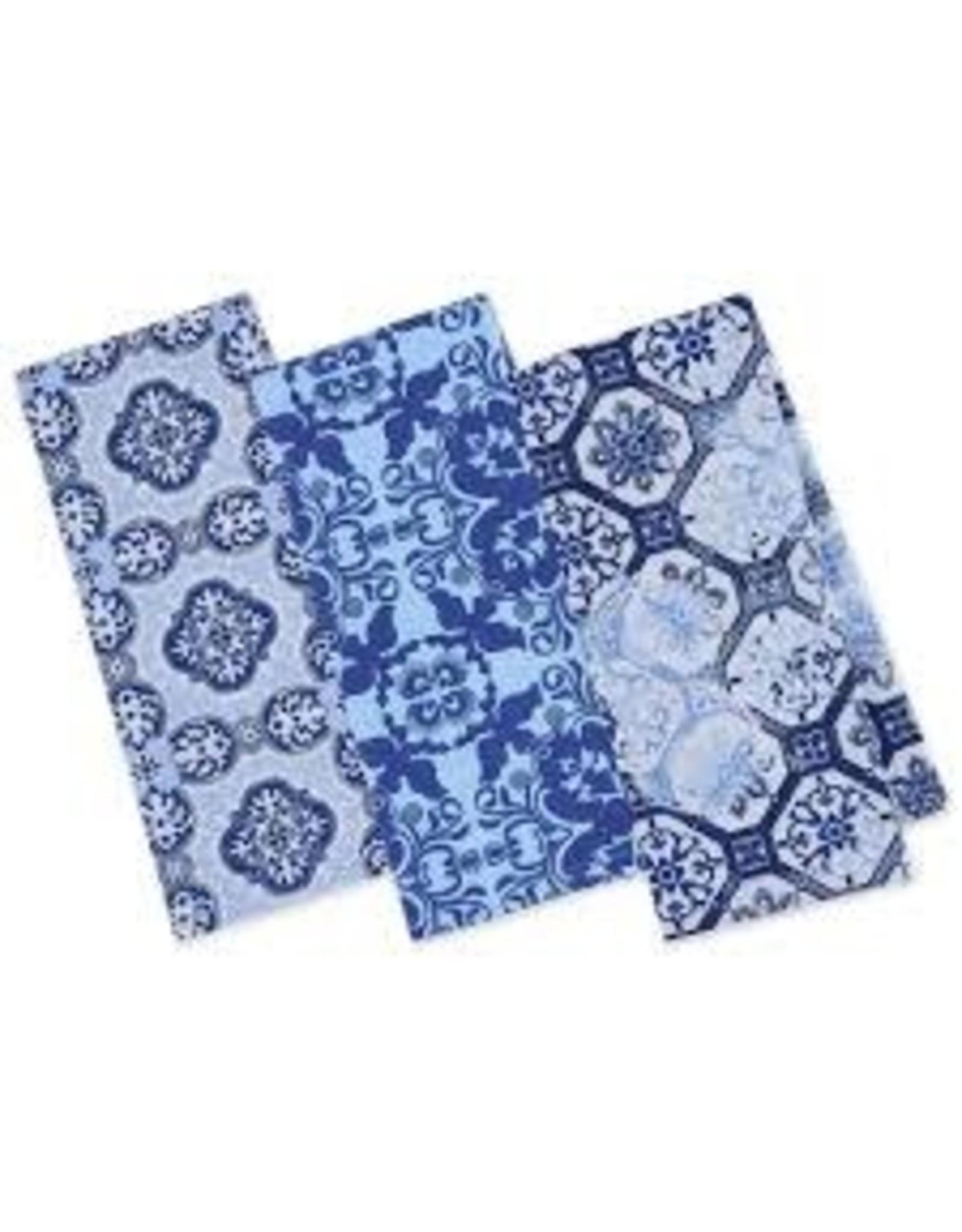 Design Imports DI Porto Blue Printed Dishtowels Mixed Dozen
