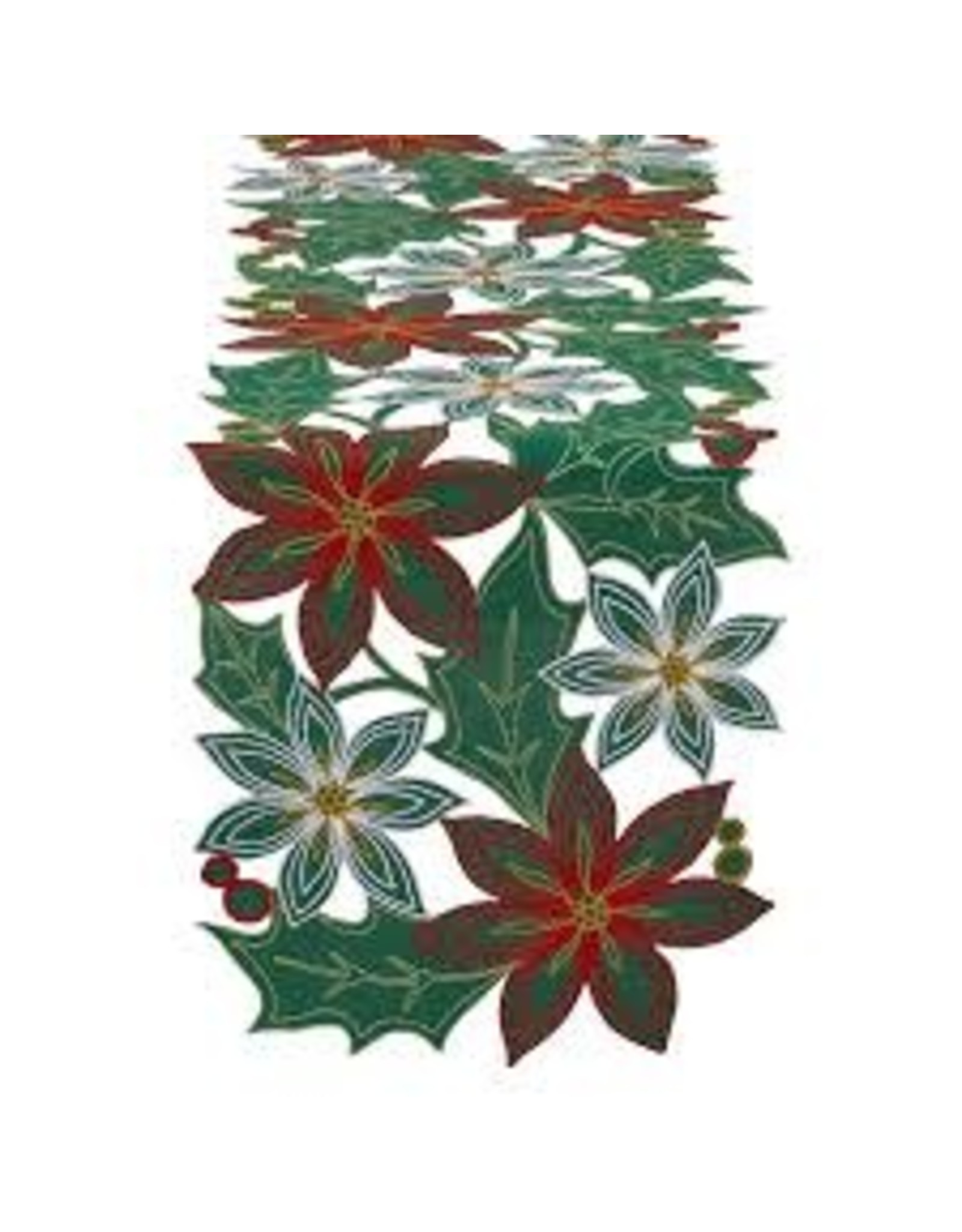 Design Imports DI Poinsettia Table Runner