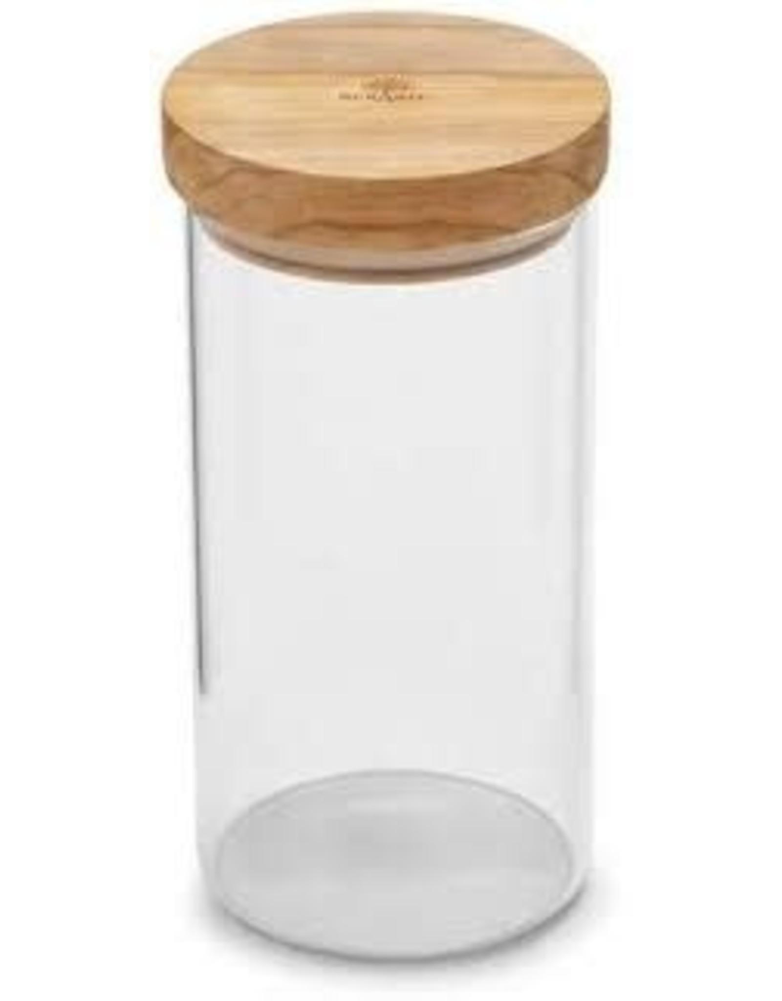 BERARD Glass Jar w/Lid Olivewood 30oz