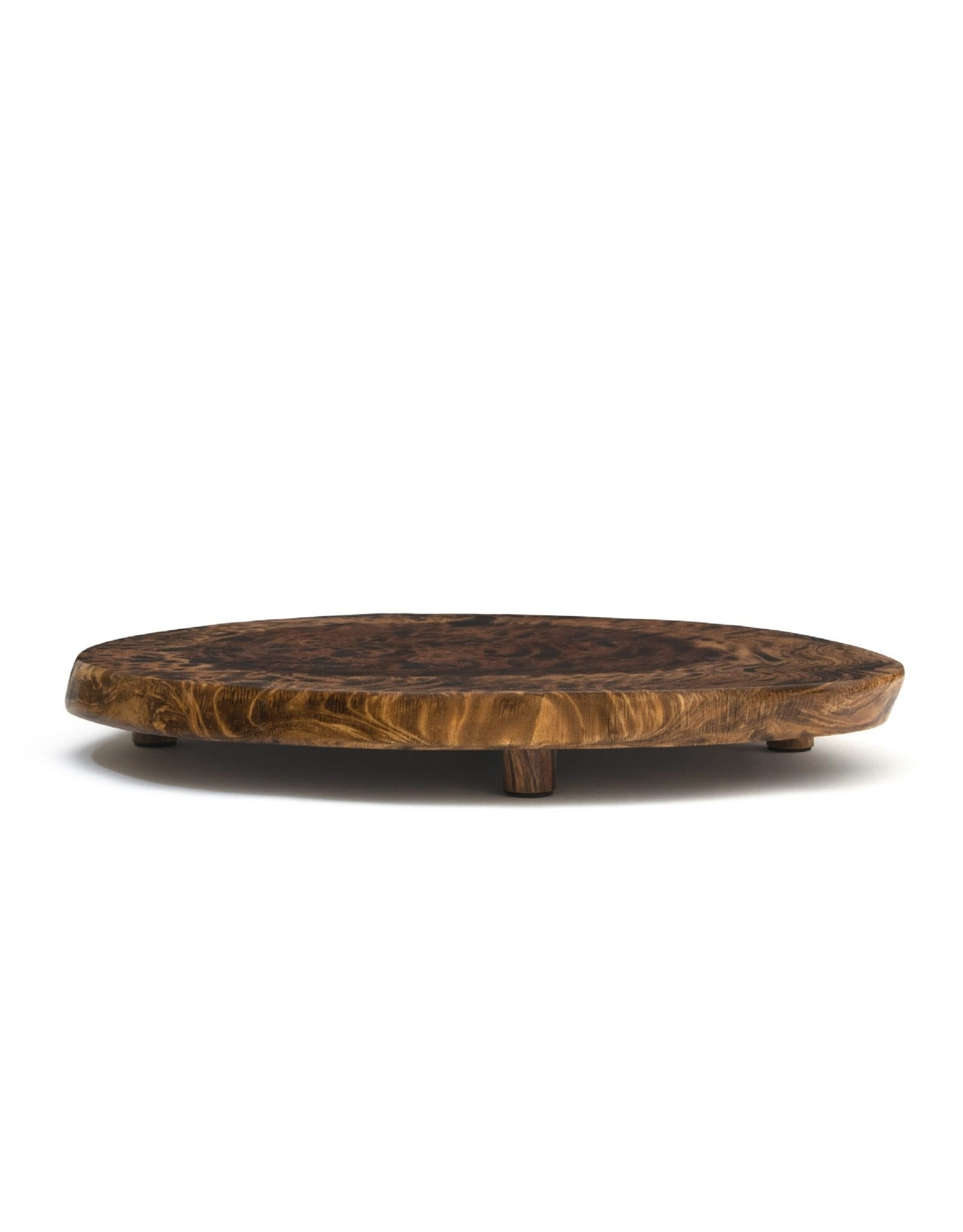 Lipper LIPPER-Burl Finish Serving Boards with Feet