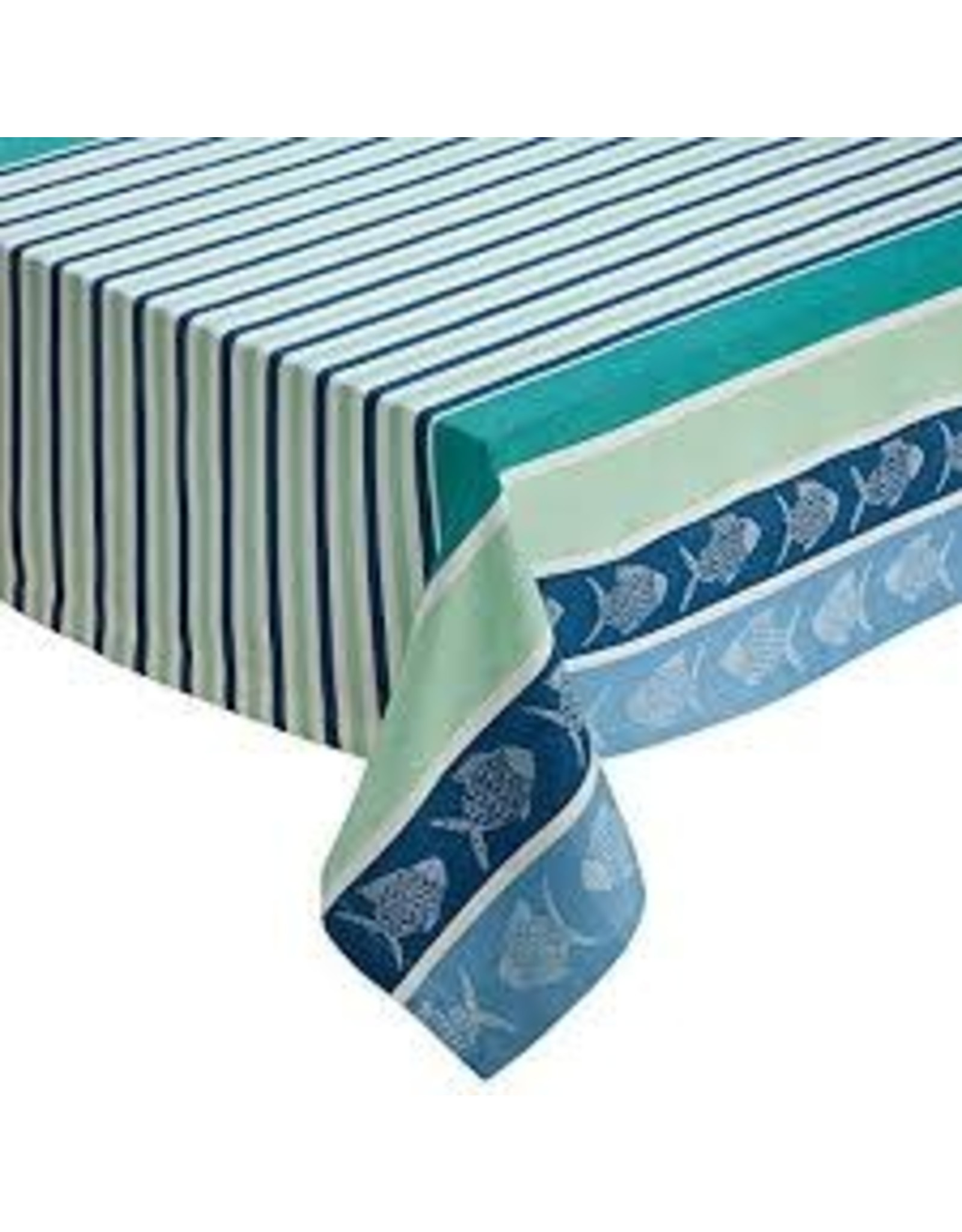Design Imports DI- Deep Sea Stripe Jacquard Tablecloth 60x84