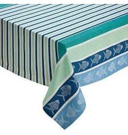 Design Imports DI- Deep Sea Stripe Jacquard Tablecloth 60x84