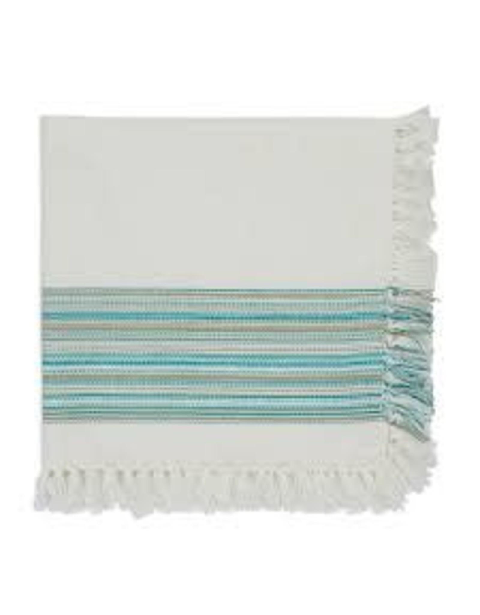 Design Imports DI-Teal Blue Fringe Napkin
