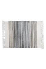 Design Imports DI-Black Striped Fringe Placemat