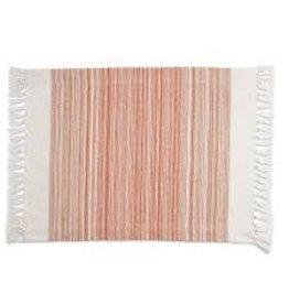 Design Imports DI-Pimento Striped Fringe Placemat