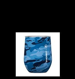 Corkcicle CORKCICLE-Stemless 12oz Vines Blue Camo