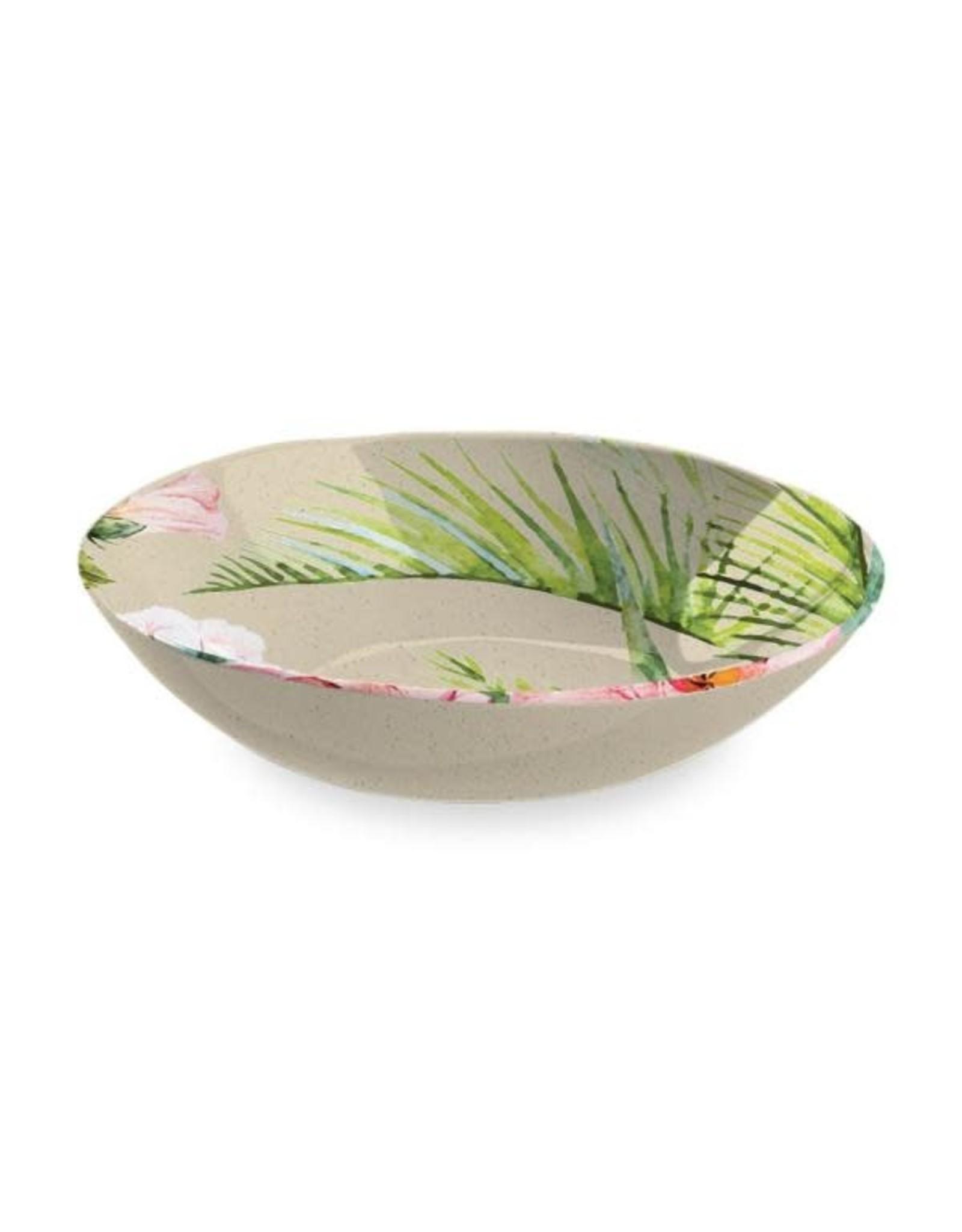 """TarHong TarHong- Palermo Tropical Bamboo Serve Bowl, 12"""""""