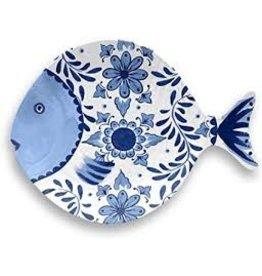 """TarHong TarHong- Cobalt Casita Figural Fish Tray, 11.7"""" x 8.7"""""""