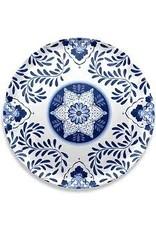 "TarHong TarHong-Cobalt Casita Round Platter, 16"""