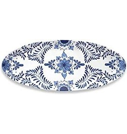 """TarHong TarHong-Cobalt Casita Oval Platter, 23.9"""" x 9.8"""""""