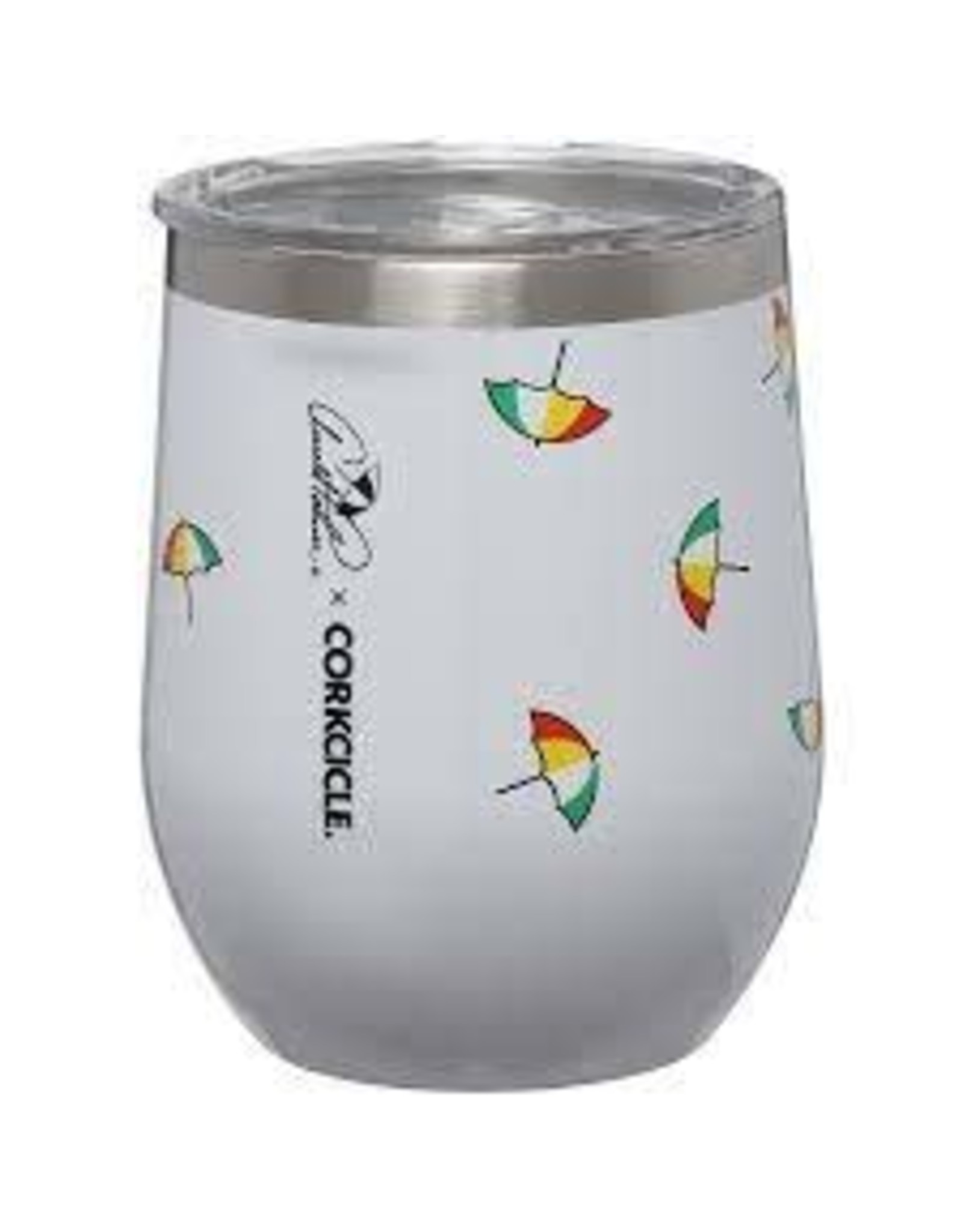 Corkcicle CORKCICLE- Stemless-12oz Arnold Palmer Tossed Umbrellas