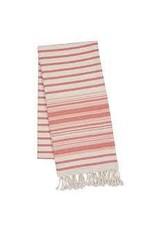Design Imports DII Red Gelato Stripe Fouta Throw