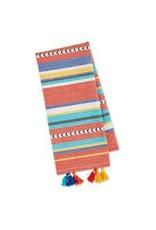 Design Imports DI Verano Stripe Embellished Dishtowel