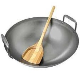 bge BGE Carbon Steel Grill Wok