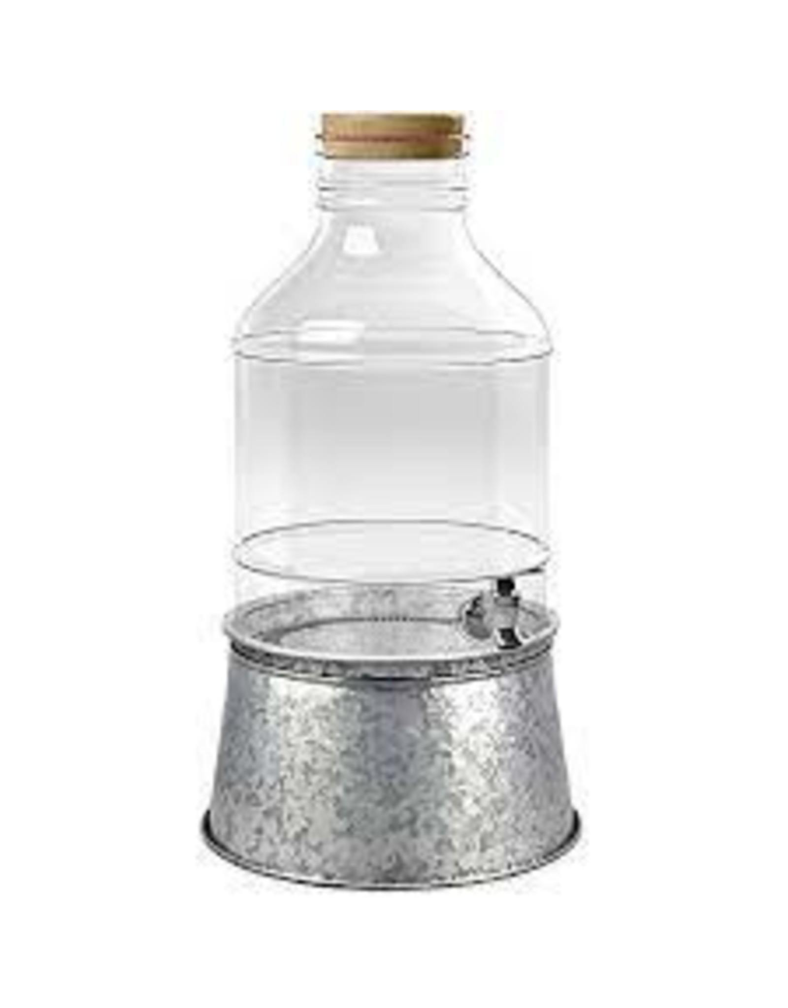 """TarHong TarHong-Galvanized Drink Dispenser Stand, 10.2"""" x 5.7"""""""