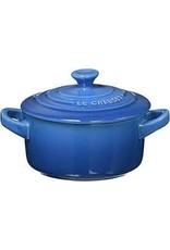 Le Creuset Le Creuset Mini Round Cocotte - Metallic Coastal Blue