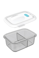 Minimal Minimal Silicone Container w/ Divider 900mL Grey
