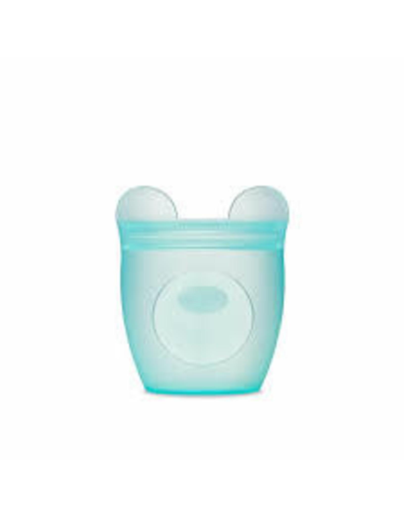 Ziptop Zip Top - Baby Snack Container - Bear - Teal