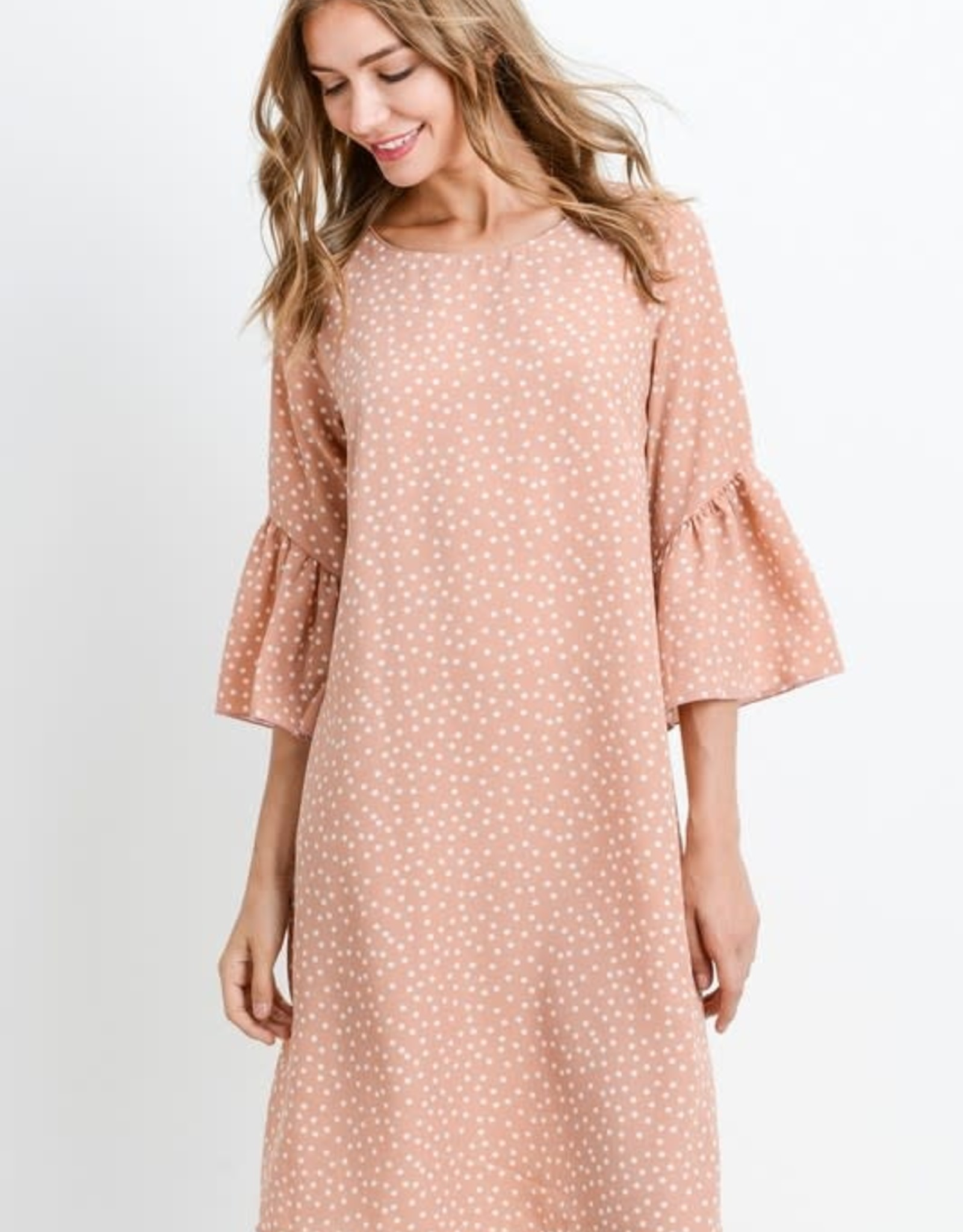 Polka Dot R.Sleeve Dress