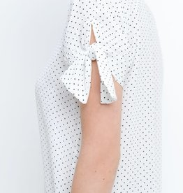 Polka Dot Print Tie Sleeves Detail