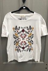 Floral Embroidery Tee