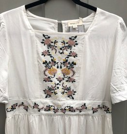 Empire Embroidery Detail Dress