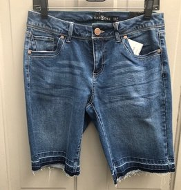 Medium Wash Jr fit Raw Hem Bermuda