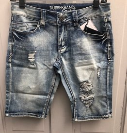 Rubberband Distressed Bermuda