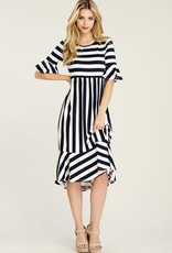 Striped Bell Sleeve
