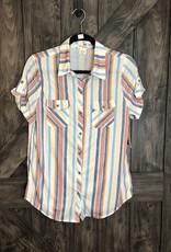 Button up short sleeve top