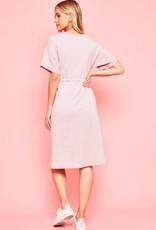 Knit Tie Waist front pocket dress