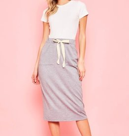 Tie waist front pocket skirt