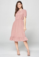 Ruffled Hem Pattern Dress