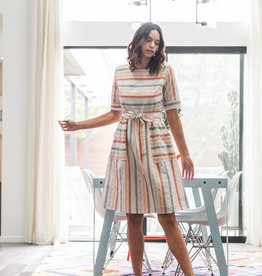 Peach Multi Stripe Dress