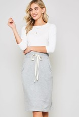 Tie Waist Midi Skirt