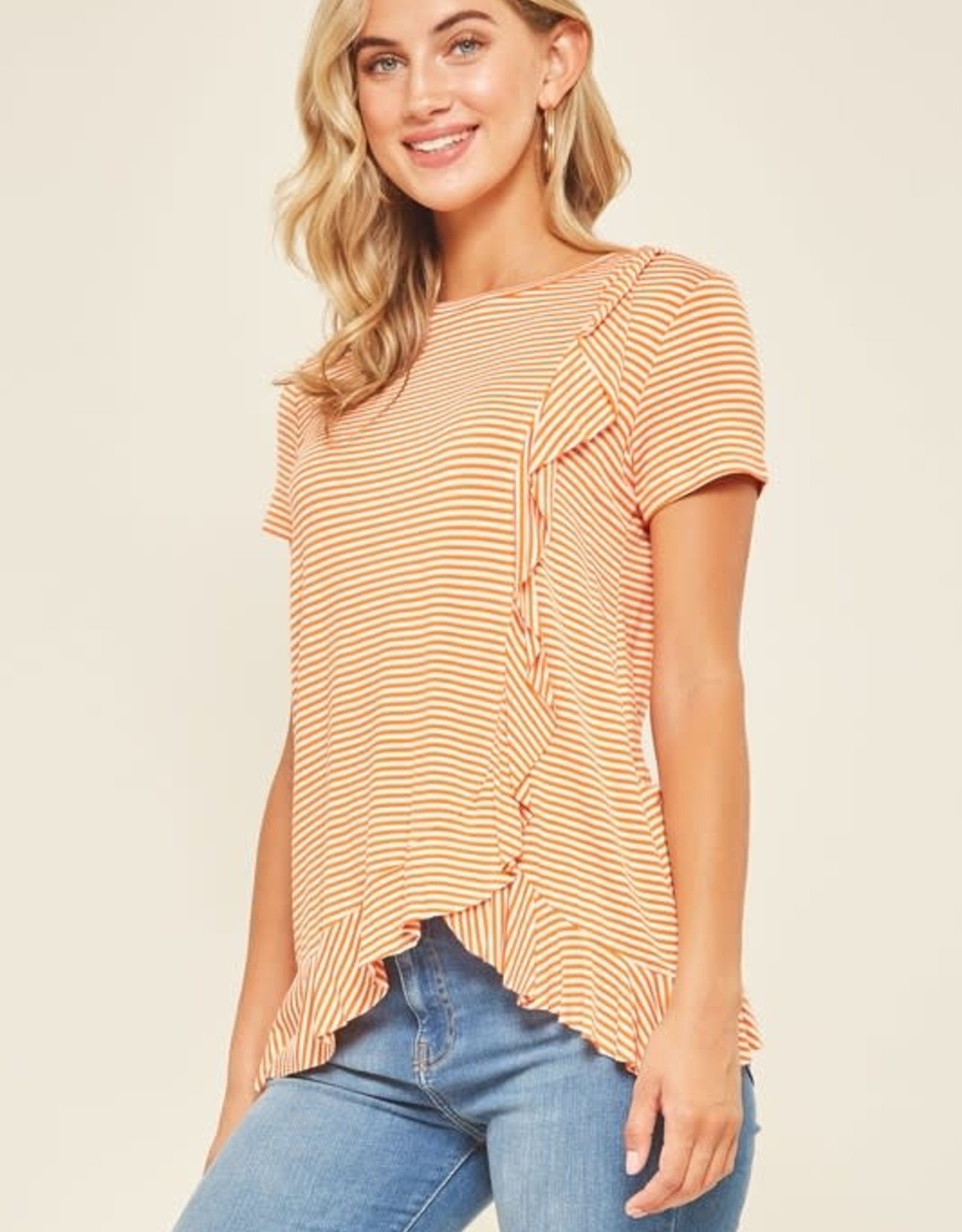 Stripe Ruffle Top