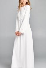 Temple Dress Lace& Sleeve Embellished bodice