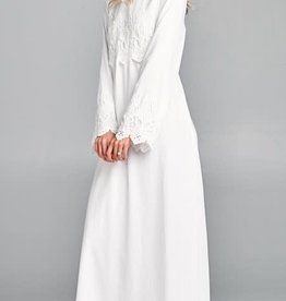 Temple Dress Lace& Sleeve Embellished bodice