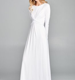Temple Dress Solid Crisscross front