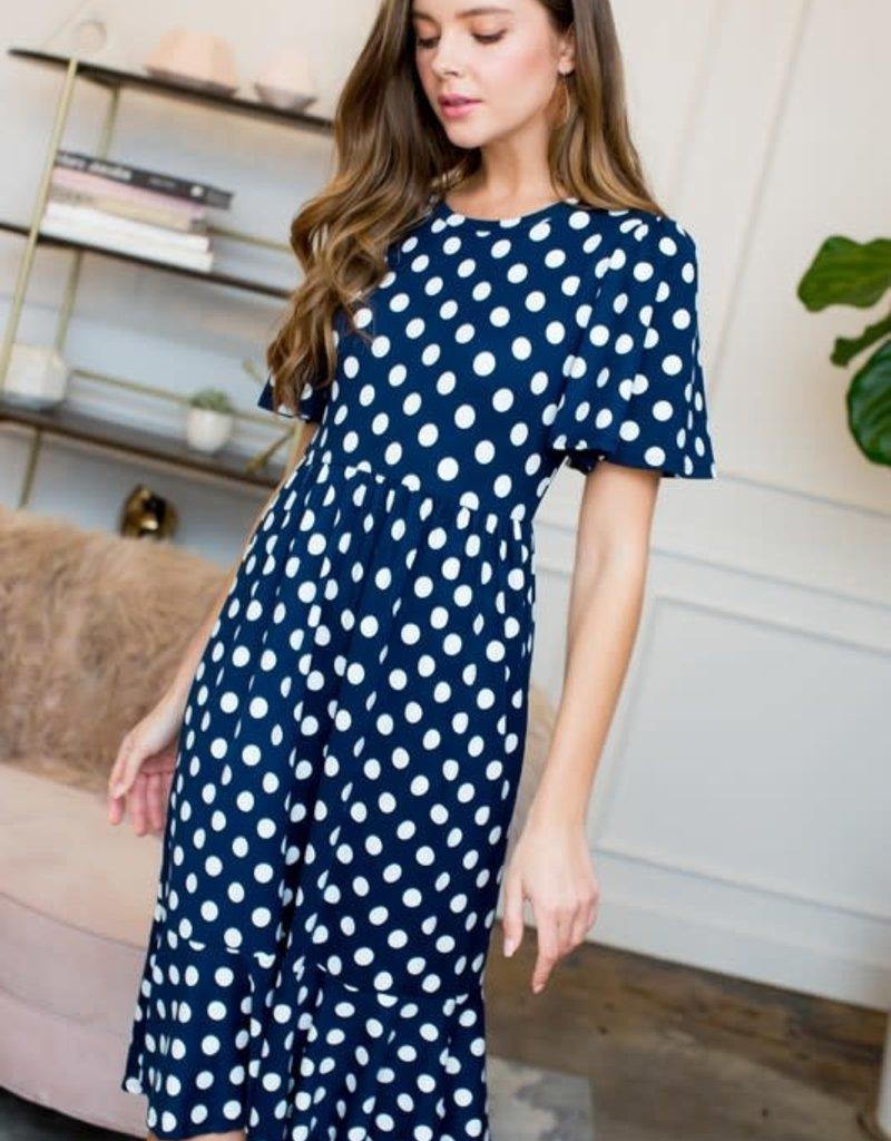 Polka Dot Ruffle Dress