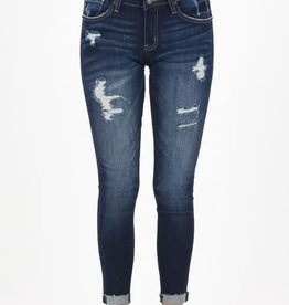 KanCan Low rise distressed cuffed