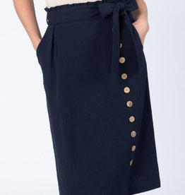 Gathered tie waist skirt