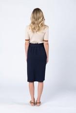 Gathered tie waist skirt